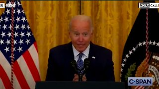 Biden Whispering To Reporters Again