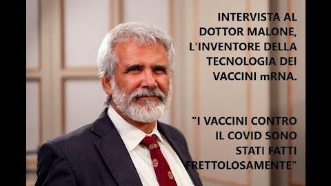La nostra intervista al Dottor Robert Malone, l'inventore della tecnologia dietro al vaccino mRNA