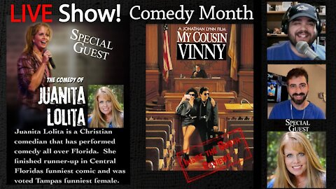 LIVE! Inter-Review Special Guest Juanita Lolita, #Movie #Review My Cousin Vinny