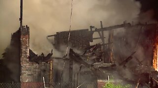Fire destroys house in Cleveland's Collinwood neighborhood