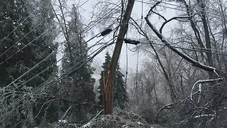 Ice storm catches British Columbia city by surprise