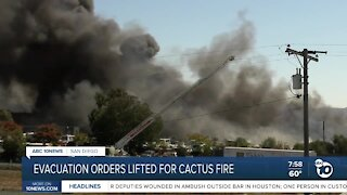 Evacuation order lifted for Cactus Fire
