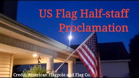 US Flag at Half-staff, August 2021