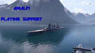 World of Warships - Amalfi: Playing Support