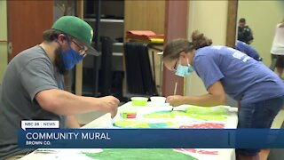 Community mural in Brown County