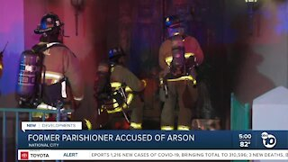 Former parishioner arrested for National City church arson