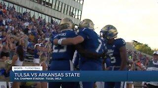 TU gets first win of the season, beats Arkansas State 41-34