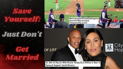 Don't Propose (at all) in Public if You Aren't 100%   Dr. Dre Shells Out $350K/Month to Ex-Wife