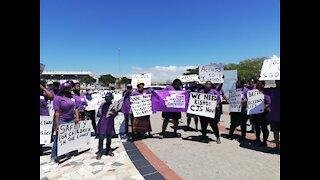 Rape Survivors Justice Campaign protesting outside Khayelitsha court