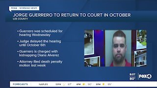 The man charged with killing 9-year-old Diana Alvarez back in court in October