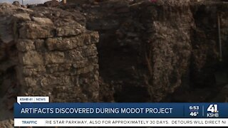 Artifacts discovered during MoDOT project