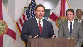 Gov. Ron DeSantis speaks about President Biden, border security, and COVID-19