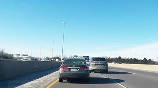 Impatient driver switches lanes, nearly causes highway accident