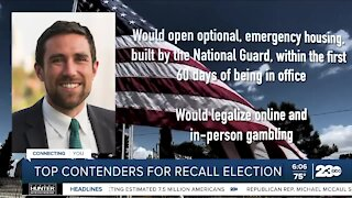Top contenders for recall election