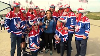 Team USA's unofficial official cheerleaders at the Ryder Cup