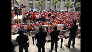 Community CareWorkers in Western Cape March to Parliament