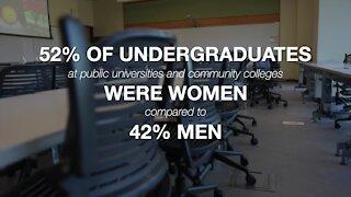 MORE WOMEN ENROLLING IN COLLEGE