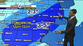 Metro Detroit Forecast: Winter storm watch Tuesday night and Wednesday