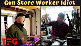 Here is an Idiot Gun Store Worker Parody