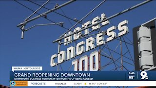 Downtown Tucson businesses prepare for grand reopening