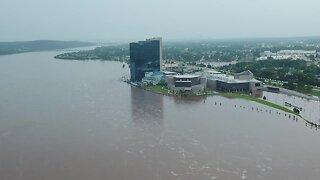 Flooding along Arkansas River
