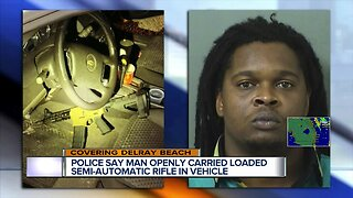 Semi-automatic rifle found after Delray Beach traffic stop