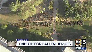 Thousands of flags pay tribute to fallen heroes