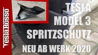 Tesla Model 3 Spritzschutz ab Werk & Montage von Schmutzfängern aus dem Zubehörhandel