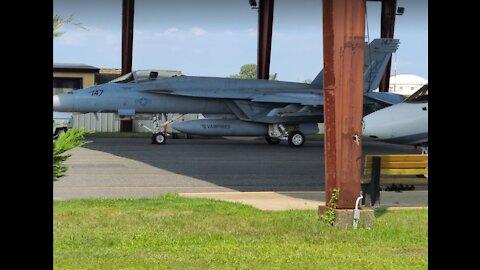 F-18 & Navy Pilot Visit - Monmouth Executive Airport
