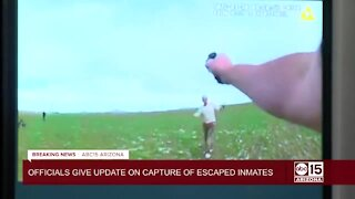 Body camera footage shows capture of escaped Florence inmates