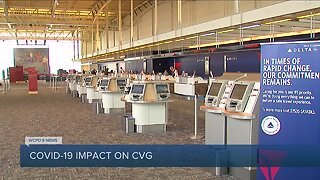 COVID-19 affecting airline travelers at CVG