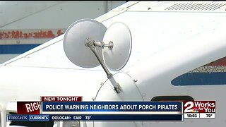 Police Warning Neighbors about Porch Pirates