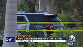 West Palm Beach officer, robbery suspect exchange gunfire