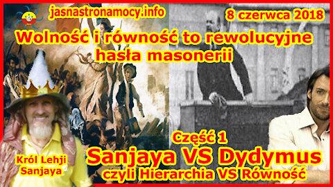 Wolność i równość to rewolucyjne hasła masonerii Sanjaya VS Dydymus czyli Hierarchia VS Równość
