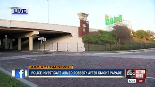 Police investigate armed robbery after Knight Parade