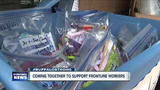 Sewing community coming together to support frontline workers