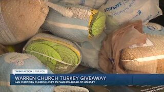 Warren church turkey giveaway