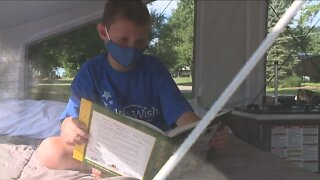 North Canton boy gets pop-up camper from Make-A-Wish