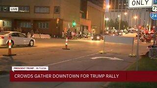 Downtown Tulsa after Trump rally