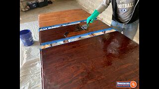 Damaged Dining Room Table Refinishing