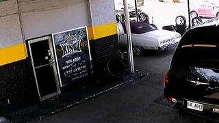 Tow truck driver nearly scraps automobile