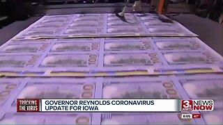 Iowa Gov. Reynolds Gives Unemployment/Coronavirus Update