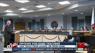 KHSD teachers can teach from school or home