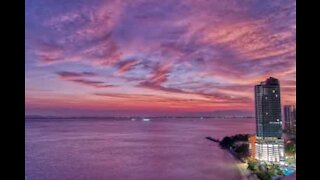 Time-lapse of stunning sunrise in Malaysia
