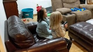 Friends playing Mario Kart
