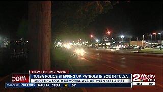 Tulsa Police stepping up patrols in south Tulsa