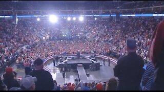 Trump Returns: Massive crowds