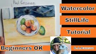 Still Life Art Tutorial - Paul Cezanne Watercolor