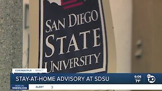 Stay-at-home advisory issued at San Diego State