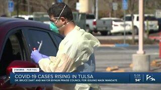 COVID-19 cases rising in Tulsa